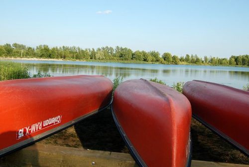 canoes for rent at Laurel Creek (GRCA)