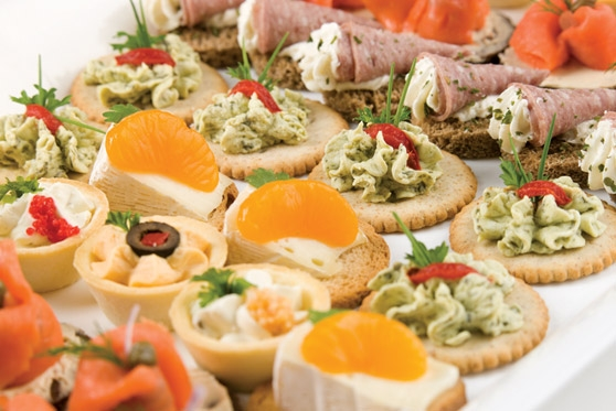 Federation hall catering and event services university for Cold canapes