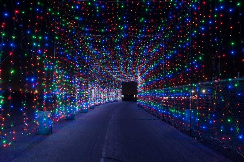Light display at Bingemans
