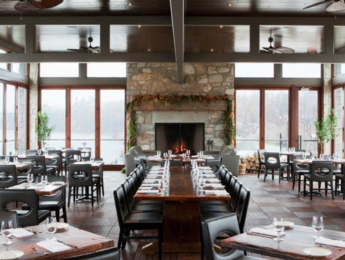 Dining room at Cambridge Mill, a fine dining restaurant and event venue in Cambridge, Ontario