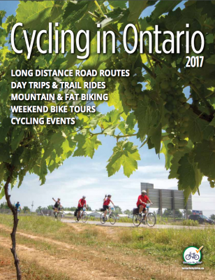 Cycling in Ontario Magazine Cover - 2017 issue