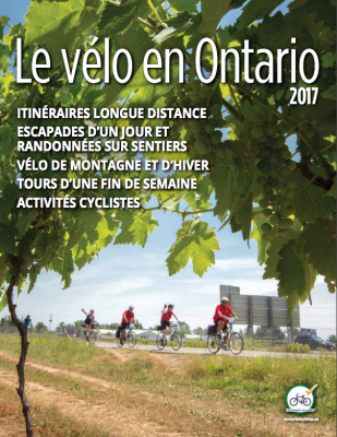 Cycling in Ontario Magazine Cover - 2017 issue (French)