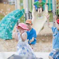 ACE Events - Children playing amongst bubbles