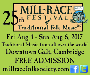 Mill Race Festival of Traditional Folk Music – JUNE, JULY 2017