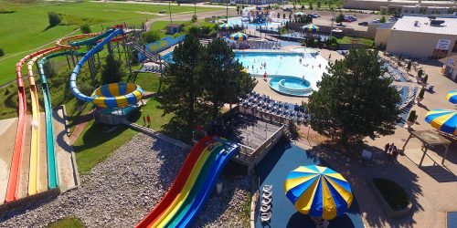 aerial view of Bingemans Big Splash