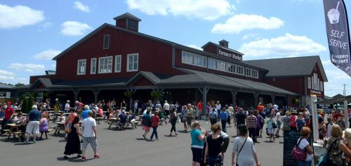 St. Jacobs Farmers' Market Exterior and crowd shot