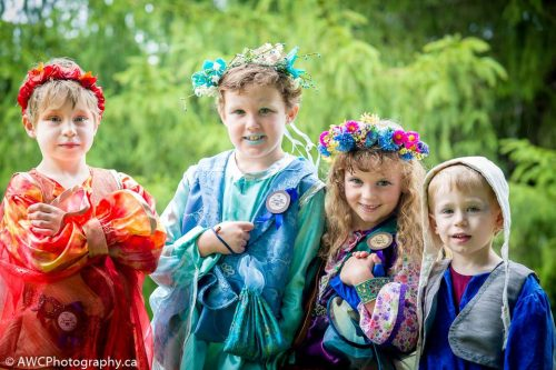 Children at the Royal Medieval Faire Waterloo