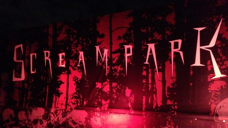 Shot of the entrance of Screampark