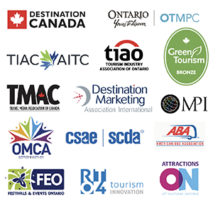 logos of tourism industry organizations WRTMC is affiliated with