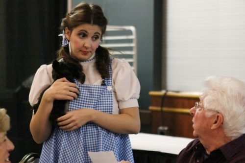 Dorothy from Wizard of Oz in a Grand River Raceway Murder Mystery dinner