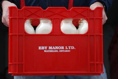 delivery of Eby Manor Milk