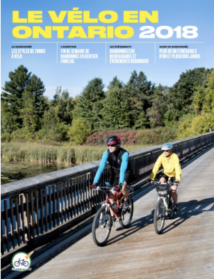 Le Velo en Ontario Magazine Cover - 2018 issue