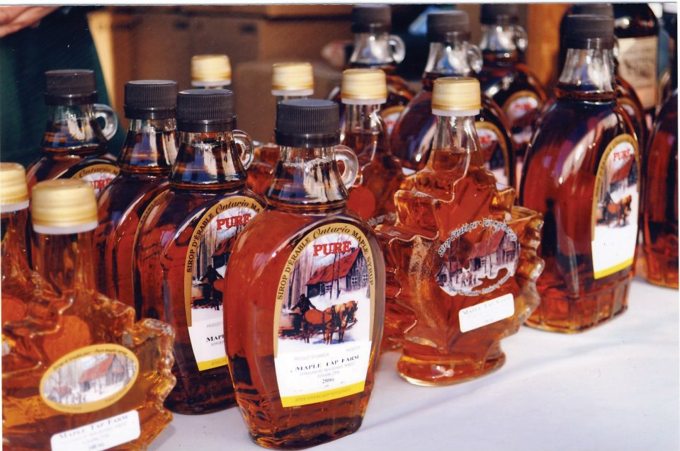Elmira Maple Syrup Festival - bottles of syrup