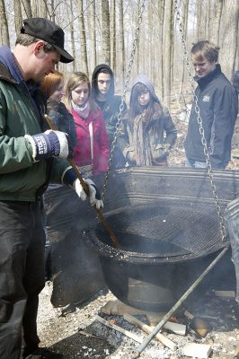 boiling sap at the Elmira Maple Syrup Festival