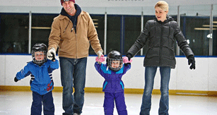 family skating at Wimot Recreation Complex