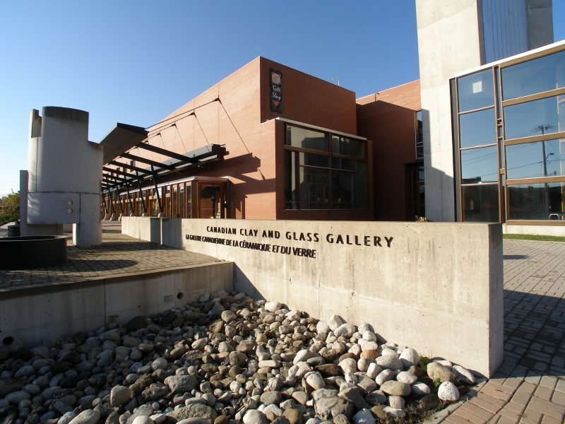 exterior photo of the Clay & Glass Gallery