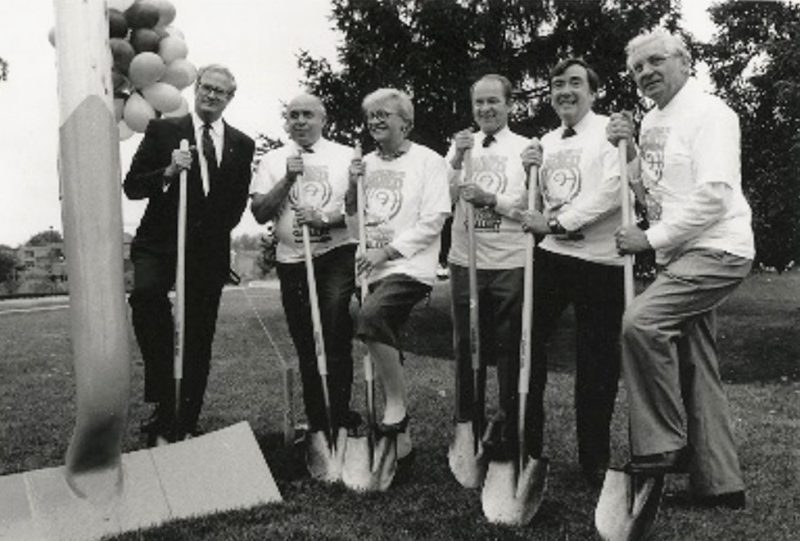 Ground breaking ceremony at the Canadian Clay & Glass Gallery September 16th, 1989