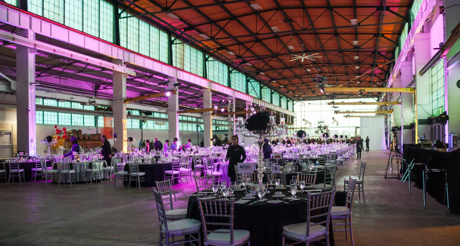 Industrial looking event hosted at Lot 42 in Kitchener