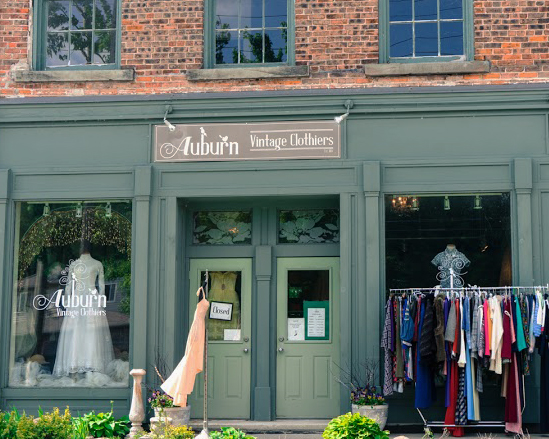 Storefront of Auburn VIntage Clothiers in Conestogo, ON - Shopping in Waterloo Region