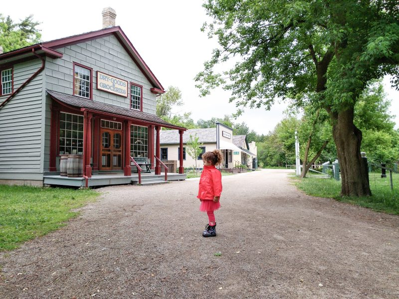 child at Doon Heritage Village