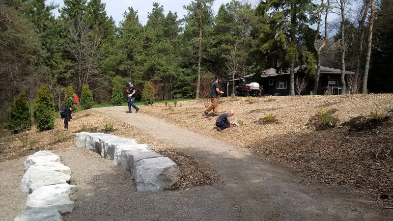 amphitheater area at Shade's Mills, GRCA