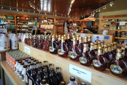 interior view of themaple syrup and products at The Farm Pantry in St. Jacobs