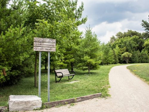 entrance to the Health Valley Trail in St. Jacobs