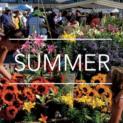 Flower vendor at the St. Jacobs Farmers Market - Things to do in Waterloo Region - Summer
