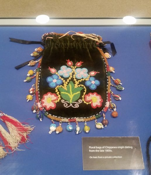 beaded bag on display at Schneider Haus
