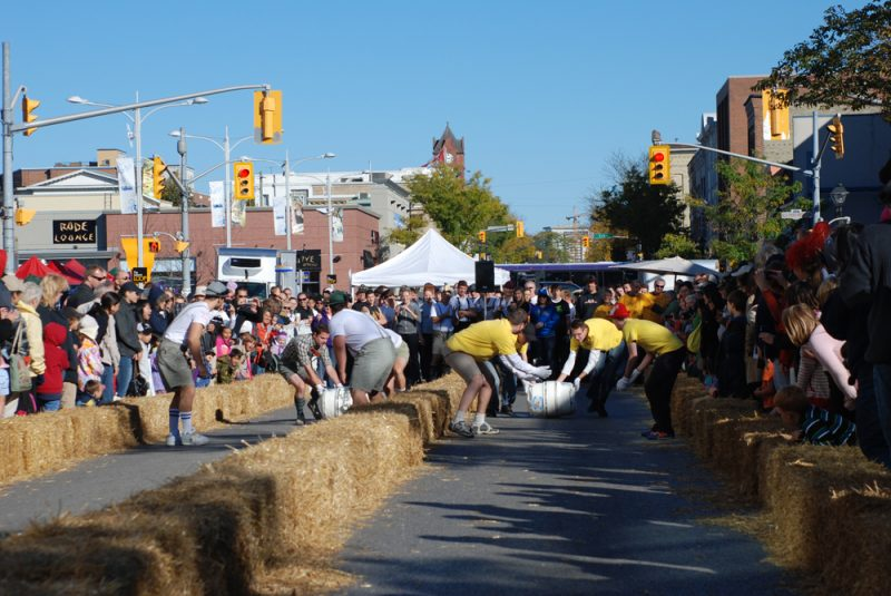 teams competing in the annual Great Oktoberfest Barrel Race