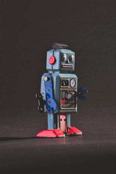 robot from the Green Light Arts production of Anywhere but Here