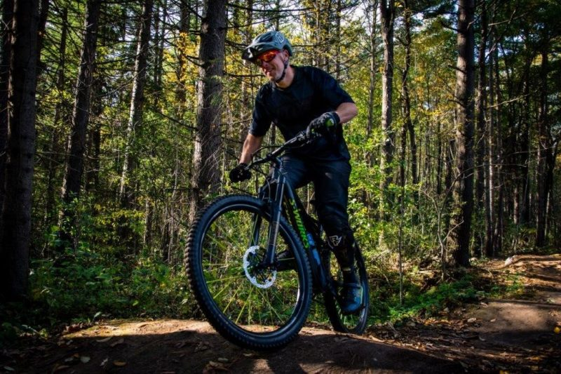 adult male mountain biker on the trails of The Hydrocut