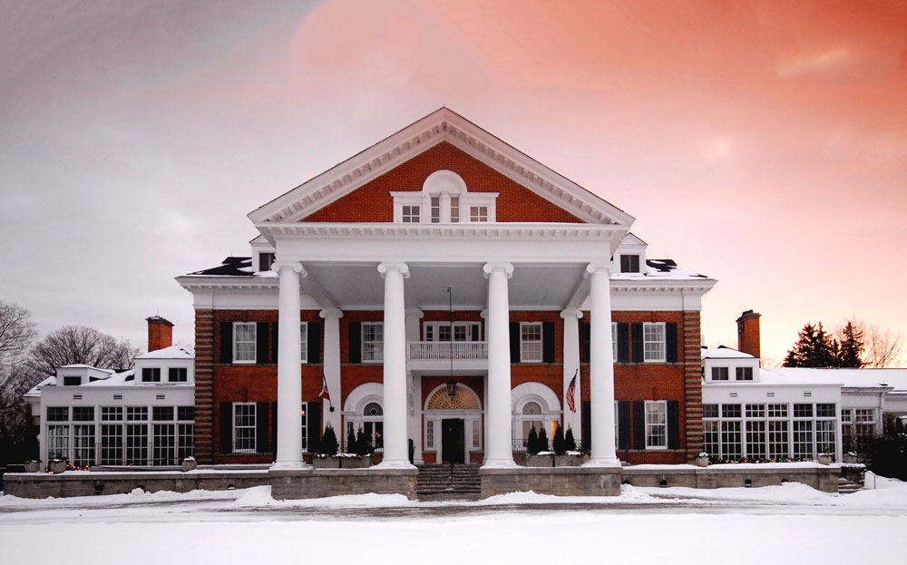 exterior shot of Langdon Hall in the Winter