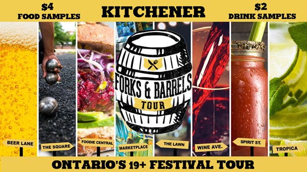 Forks and Barrels tour kicks off in Kitchener May 24-26, 2019