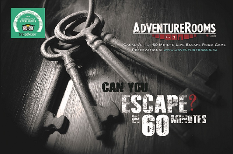 adventure rooms canada, escape rooms, things to do waterloo region, things to do kitchener, date night ideas, team building