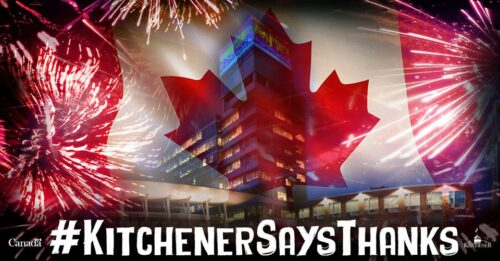 City of Kitchener Canada Day banner 2020