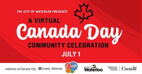 City of Waterloo Canada Day celebrations banner
