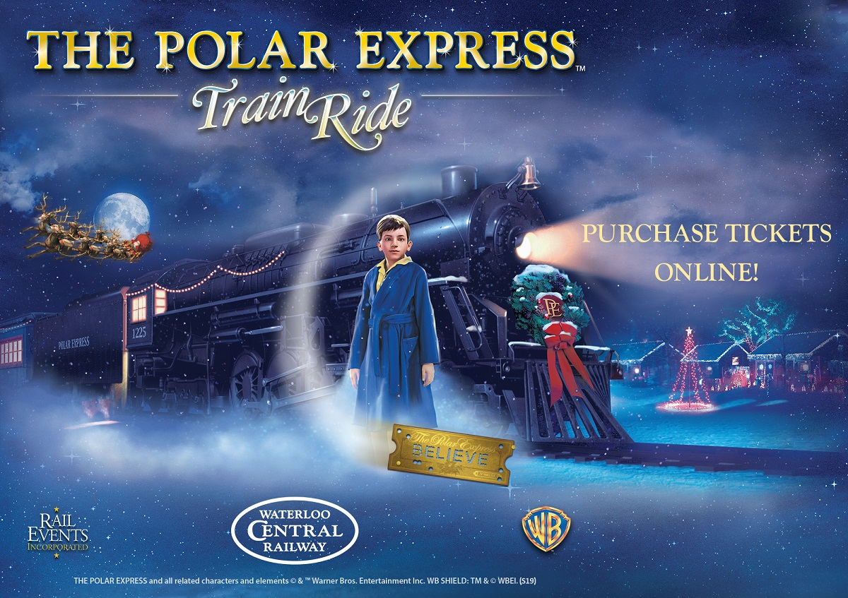 polar express, waterloo central railway, theme trains, holiday trains, holiday things to do, christmas events, family fun, things to do with the family, things to do waterloo reigon, st. jacobs