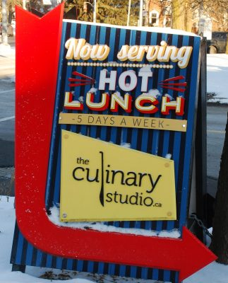 The Culinary Studio - Lunch sign