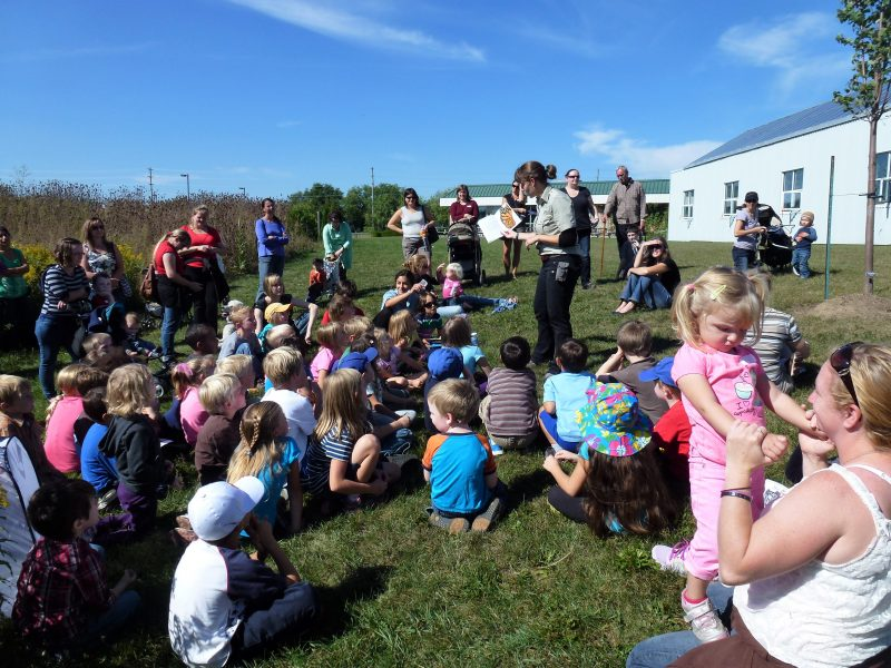 children's program happening outdoors at Cambridge Butterfly Conservatory