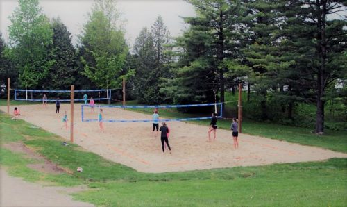 new beach volleyball courts at Shade's Mills, GRCA