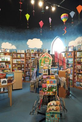 interior of the play area at Toy Soup in St. Jacobs