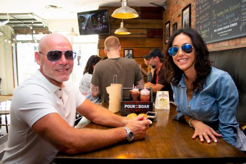 couple in a restaurant in UpTown Waterloo