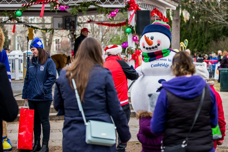 Willy Melt greeting visitors at Christmas in Cambridge - Candyland