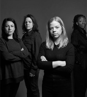 4 female leads in the Green Light Arts production of Guarded Girls