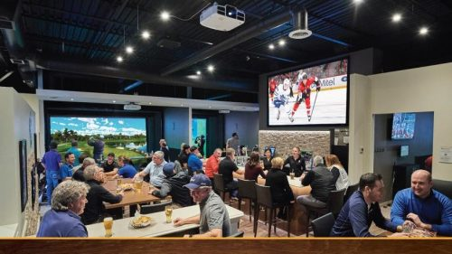 Players Indoor Golf, simulated sports, sports bars in Waterloo Region, sports simulators in Waterloo Region
