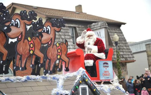 Santa claus parades in waterloo region, holiday things to do, holiday events for families, parades