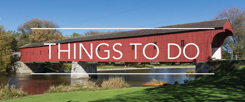 The West Montrose Covered Bridge in Woolwich Township