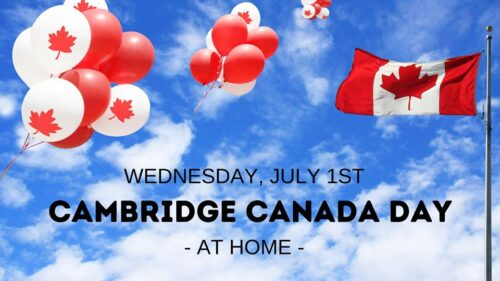 Cambridge Canada Day at Home banner