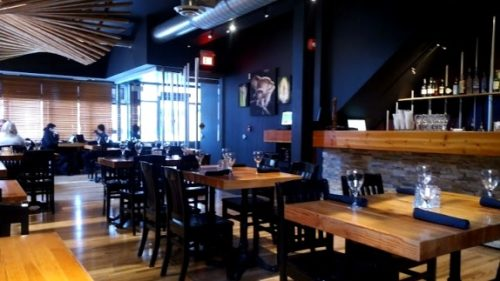 the empty dining room at King Street Trio in Uptown Waterloo